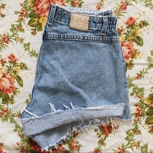 Lee | Vintage 80s 90s Stretchy High Waisted Shorts